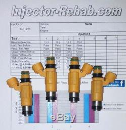 Cleaned & Flow Tested Yamaha Outboard 150 HP Fuel Injectors Set(4) 63P1376100-00