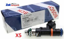 FOR Ford Focus 2.5T RS ST225 Genuine Bosch 550cc Fuel Injectors Full Set of 5NEW