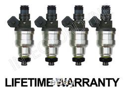 Toyota 4Runner Pickup 89-95 22RE 2.4L 4-hole upgrade fuel injectors set withvideo